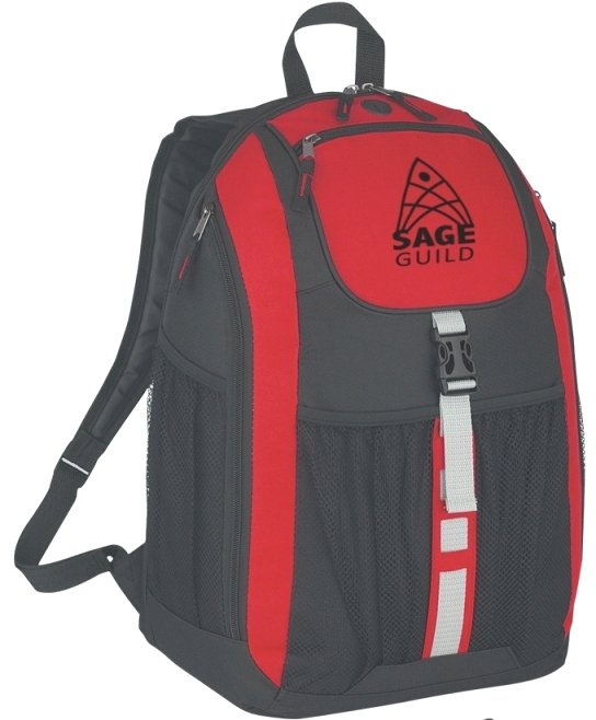 Deluxe Printed Backpack Red Color Image