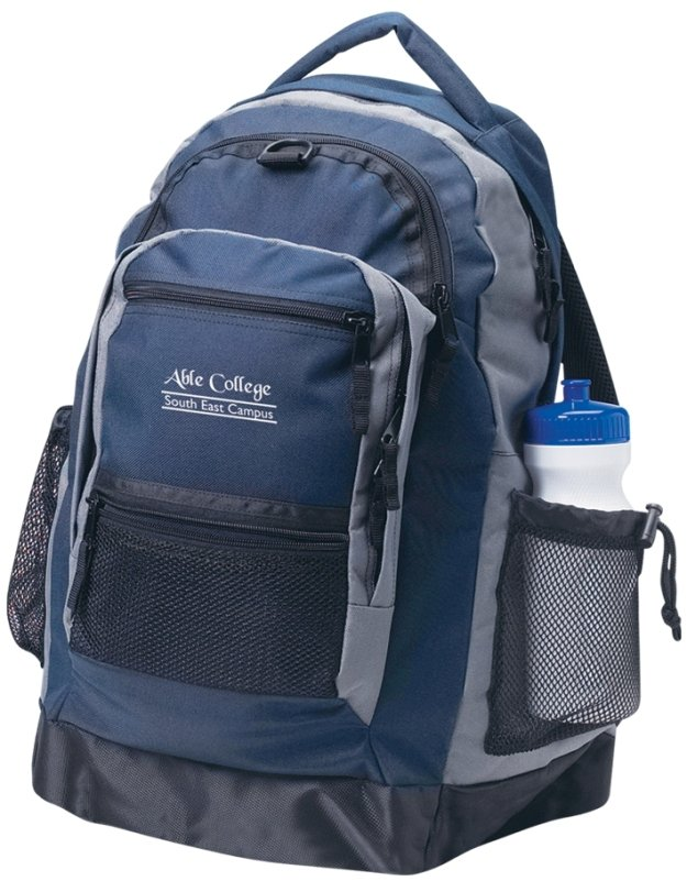 Premium Printed Backpack Navy Color Image