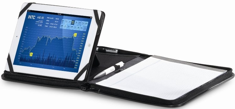Noble Leather Tablet Padfolio Features One Image