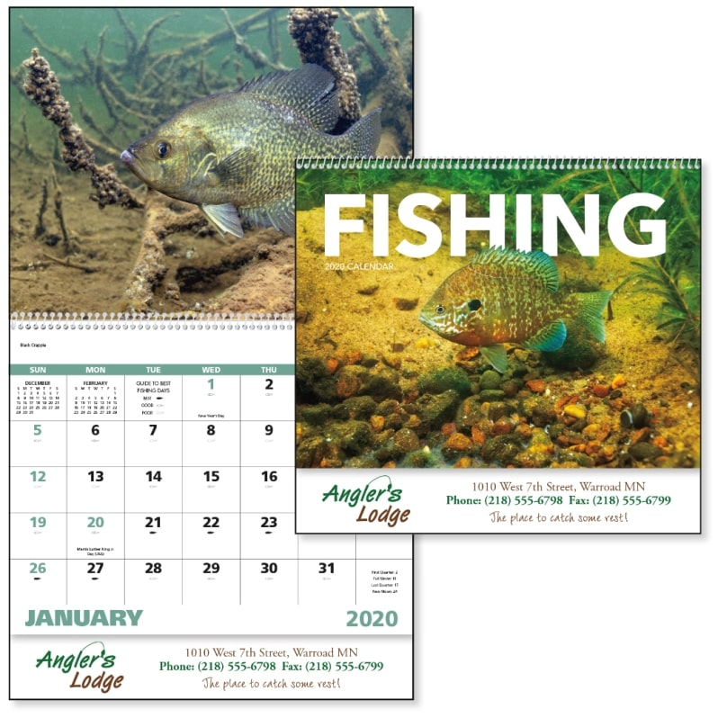 Advertising Calendar-Fishing