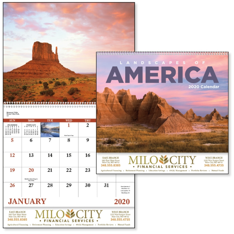 Advertising Calendar-Landscapes of America