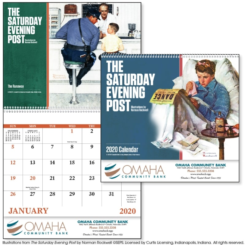 Advertising Calendar-The Saturday Evening Post