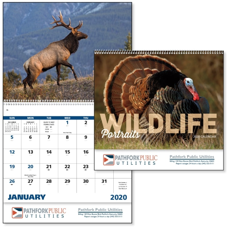 Advertising Calendar-Wildlife Portraits