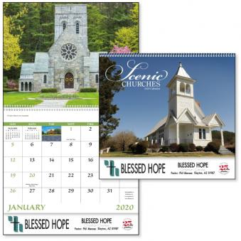 Scenic Churches Advertising Calendar
