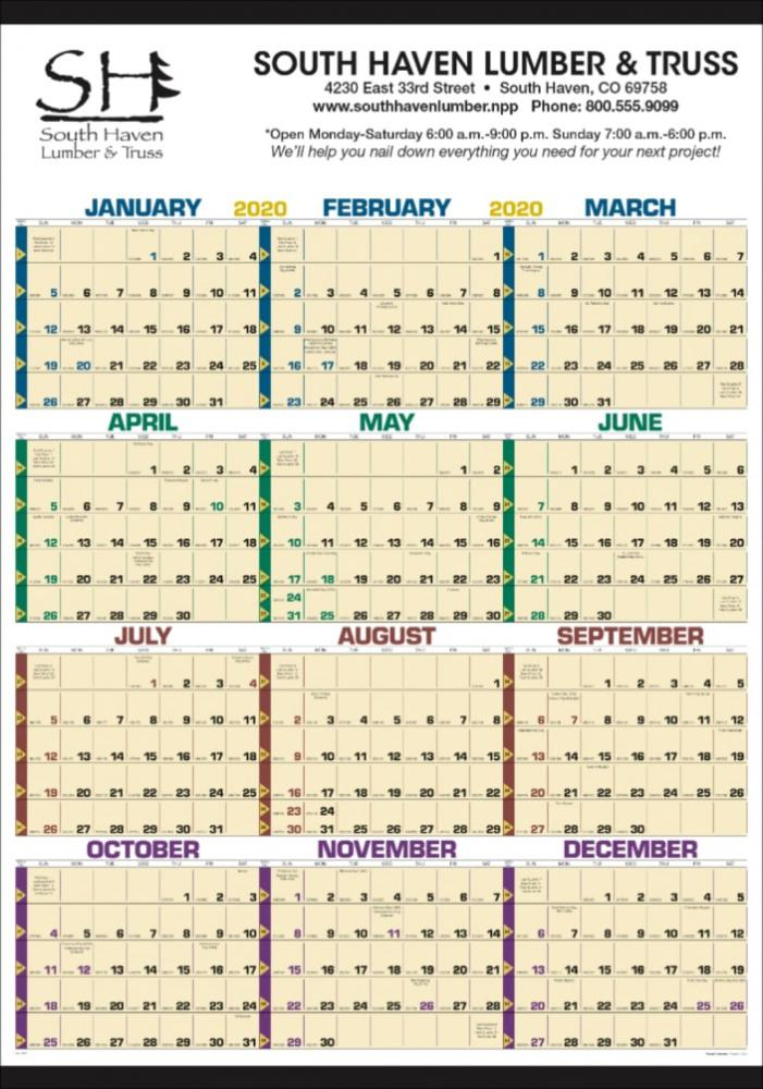 Wall Calendar-Non Laminated Time Management