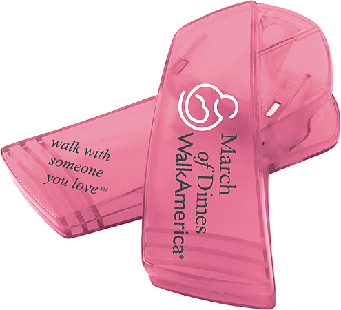 Promotional Bag Clip-Awareness Ribbon Shape