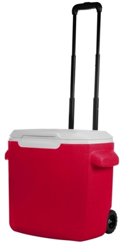 Red 28 Quart Coleman Wheeled Cooler Image
