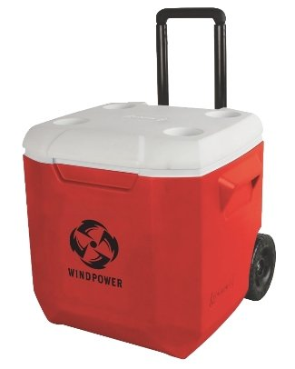 Red 45 Quart Coleman Wheeled Cooler Image