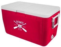Red 48 Quart Coleman Ice Chest Cooler Image