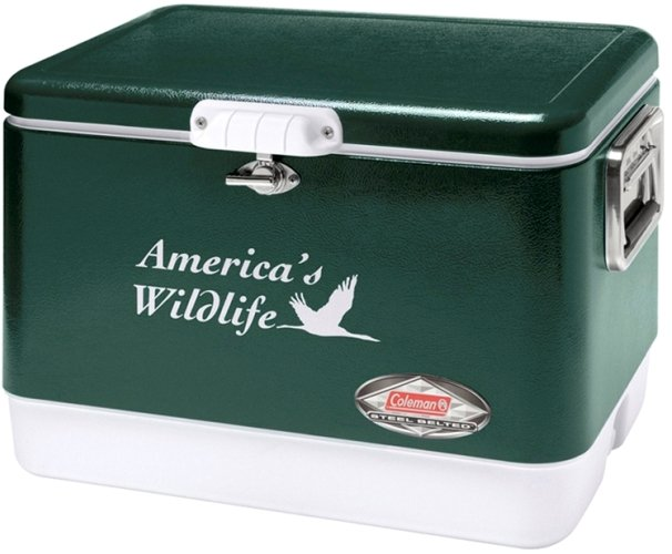 Green 54 Qt. Coleman Classic Steel Belted Cooler Image