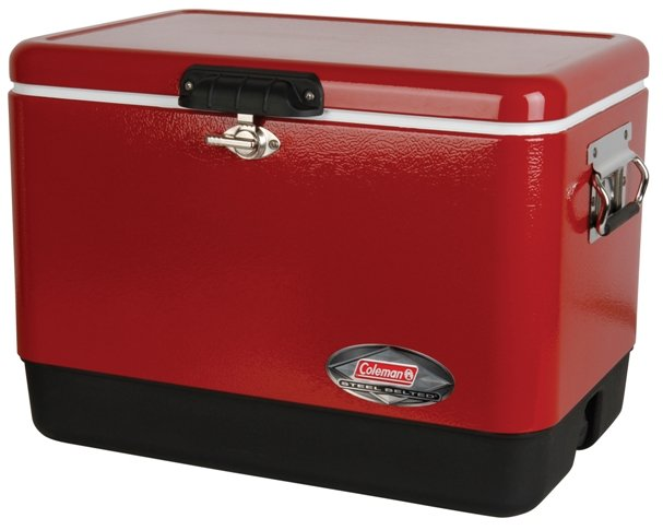 Red 54 Qt. Coleman Classic Steel Belted Cooler Image