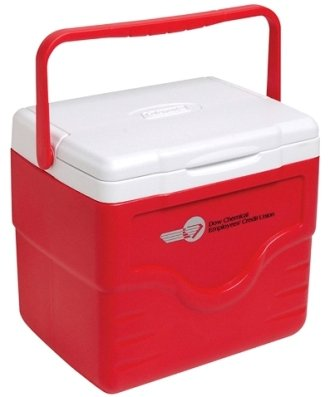 Red 9 Quart Coleman Lunch Cooler Image