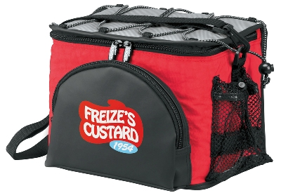 Cooler Bags Koozie Super Deluxe 6 Pack Red Colors Image