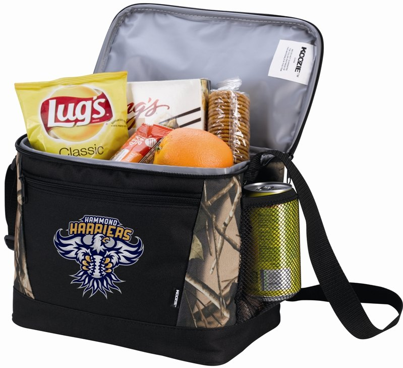 Koozie - 12 Can Camo Promotional Lunch Bags
