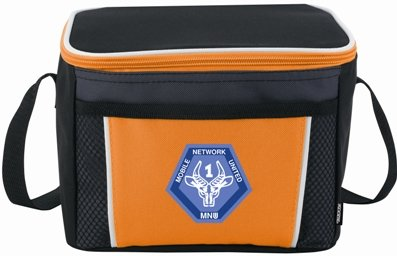 Orange Koozie Color Edge Cooler