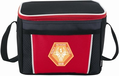 Red Koozie Color Edge Cooler