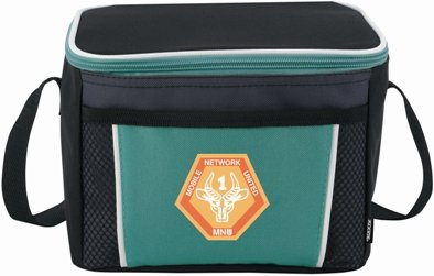 Teal Koozie Color Edge Cooler