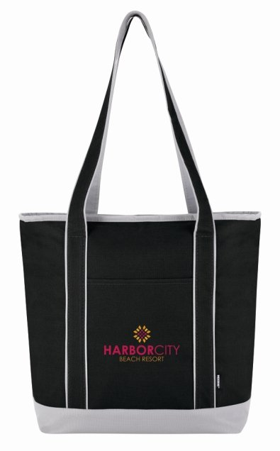 Black Koozie Tote Lunch Bag