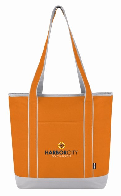 Orange Koozie Tote Bag Cooler