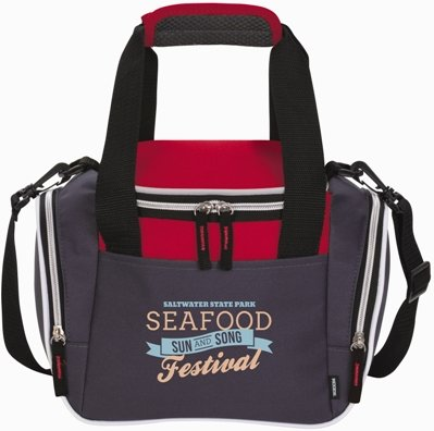 Red Duffel Lunch Bag Cooler
