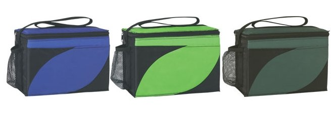 6 Pack Accent Soft Sided Cooler Bottom Colors Image