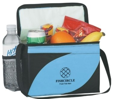 6 Pack Accent Soft Sided Cooler Logo Printed Image