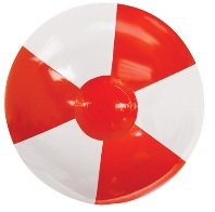 Promotional Beach Ball Red Colors Image