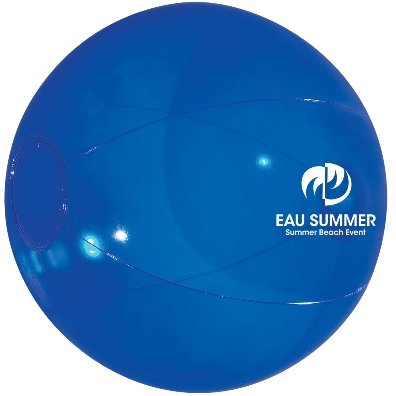Translucent Blue Custom Printed Beach Ball