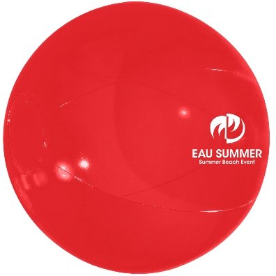 Translucent Red Custom Printed Beach Ball