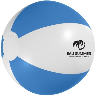 White and Blue Custom Printed Beach Ball