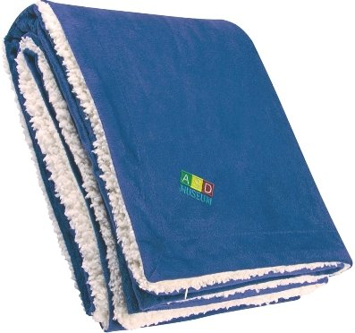 Royal Embroidered Sherpa Blanket