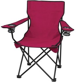 Maroon Promotional Captains Folding Chair