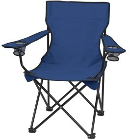Navy Promotional Captains Folding Chair