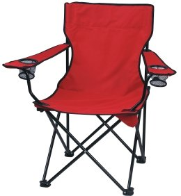 Red Promotional Captains Folding Chair