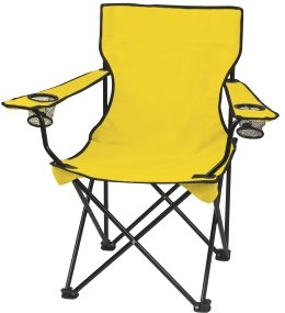 Yellow Promotional Captains Folding Chair