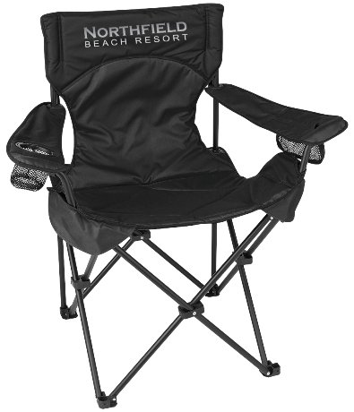Black Promo Deluxe Padded Folding Chair