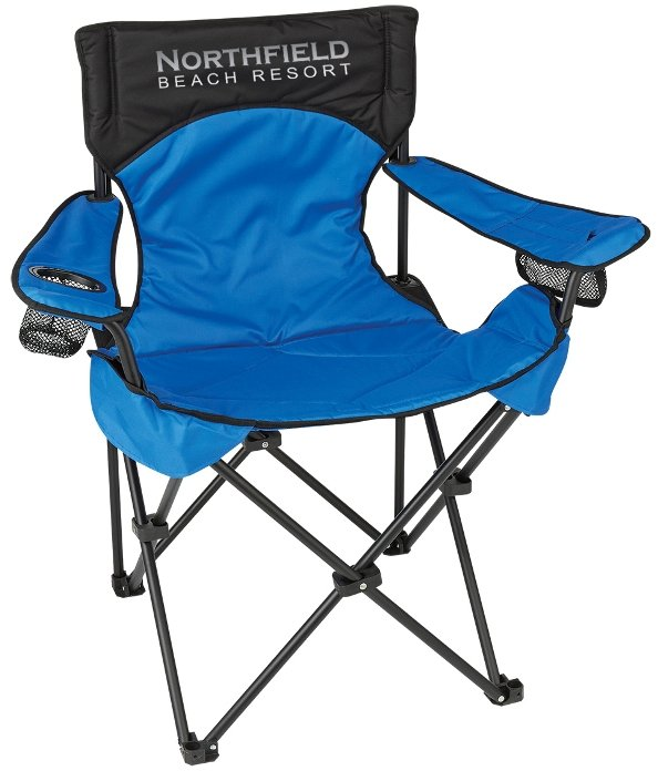 Blue Promo Deluxe Padded Folding Chair