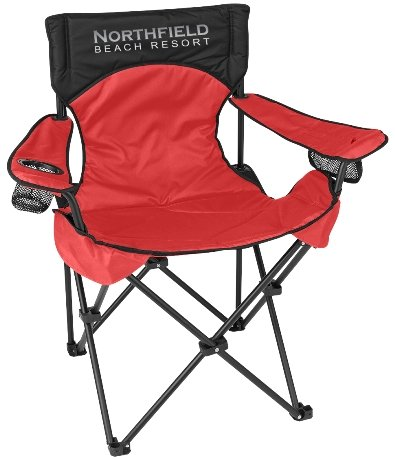 Red Promo Deluxe Padded Folding Chair