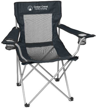Black Promotional Mesh Folding Chair