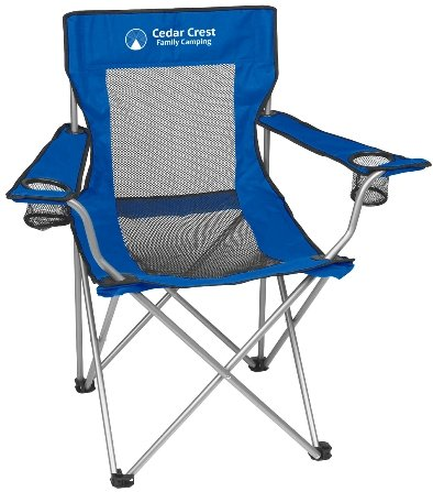 Blue Promotional Mesh Folding Chair