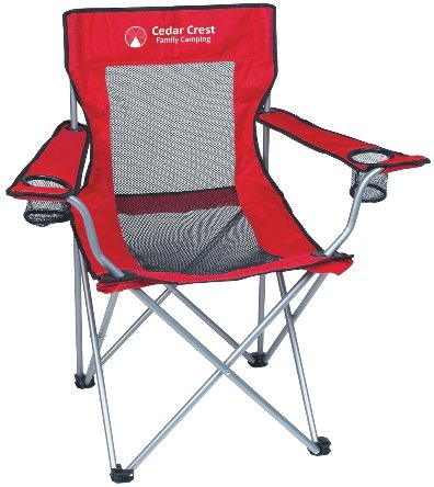 Red Promotional Mesh Folding Chair
