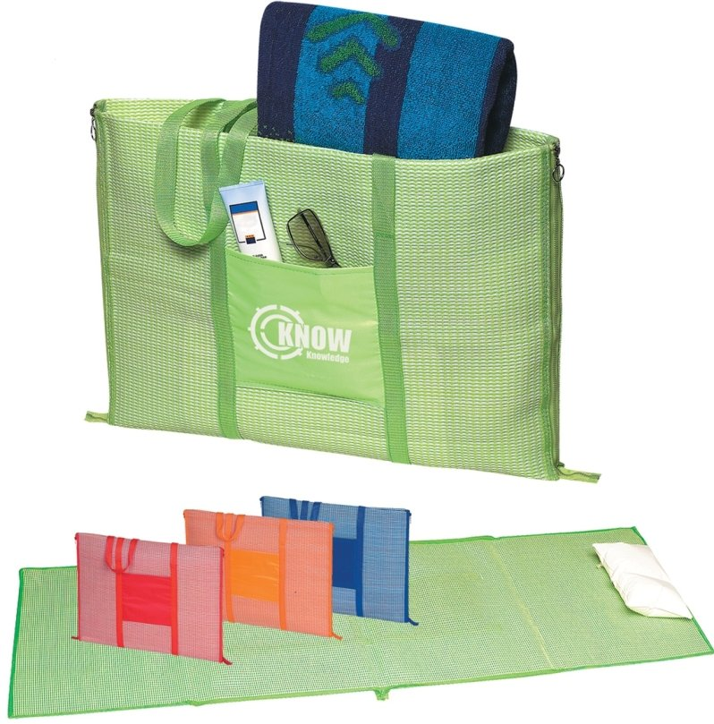 Mats - Custom Beach Mat with Tote