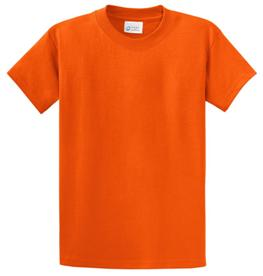 School T Shirt Orange Color Image