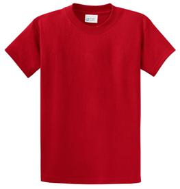 School T Shirt Red Color Image