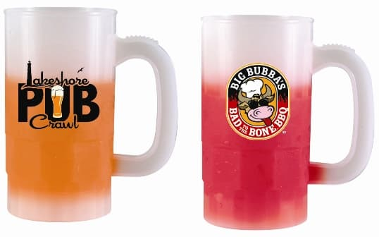 Frosted Custom Mood Beer Mugs