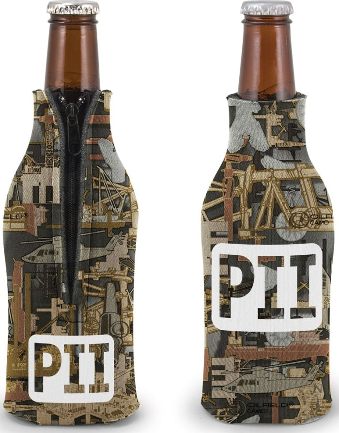Oilfield Camo Customized Coozie