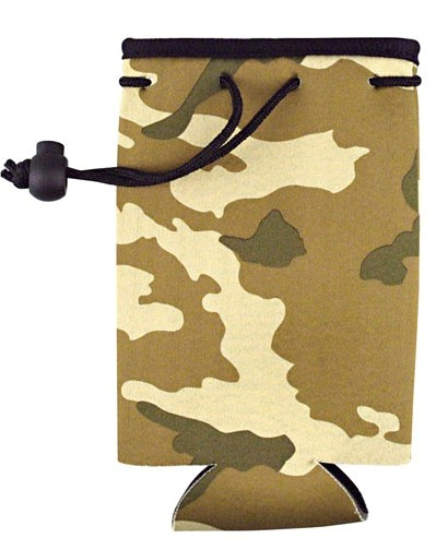 Camo Cheap Bottle Coozie