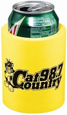 Bright Yellow Cheap Can Coozie
