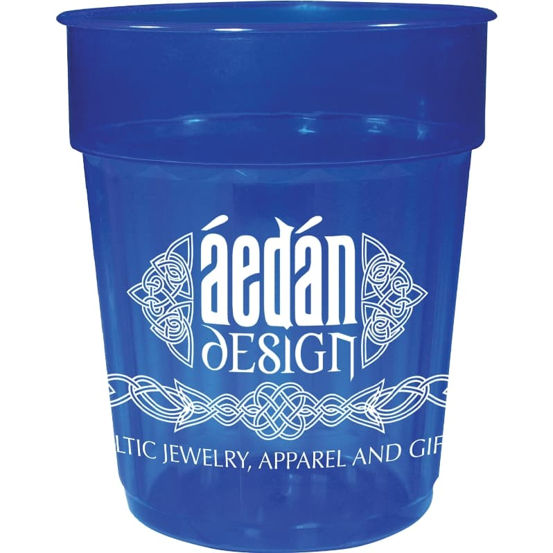 Custom Cups - 16 oz Jewel Fluted Plastic Cup