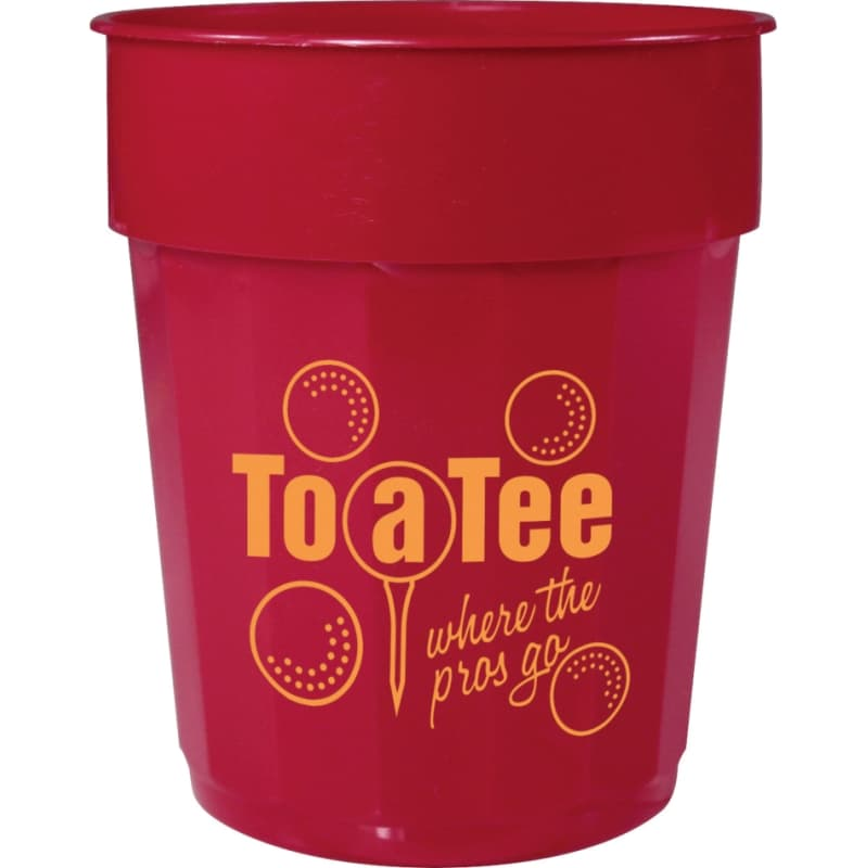 Custom Cups - 16 oz Fluted Plastic Cup